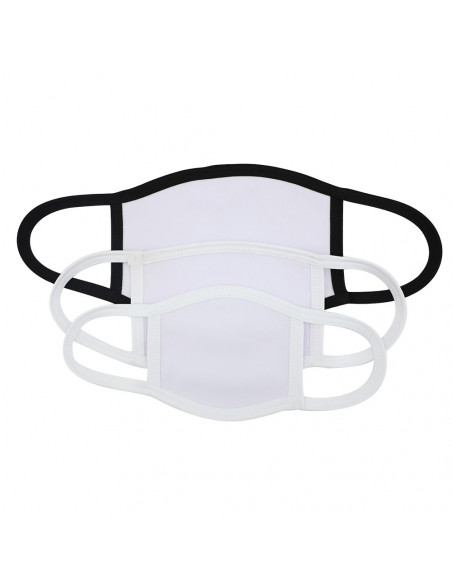 Sublimation Face Mask with Black edge
