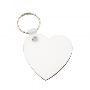 Sublimation Blanks MDF Key Chain - Heart Shape