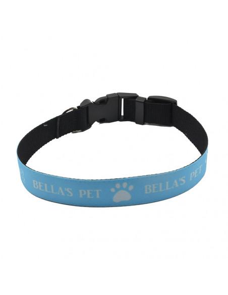 Sublimation Adjust Dog Collar - Blue