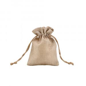 Sublimation Blank Faux Burlap Drawstring Bag