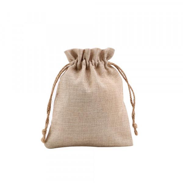 Sublimation Faux Burlap Drawstring Bag