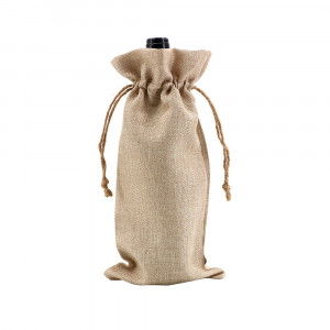 Sublimation Faux Burlap Wine Tote Bag