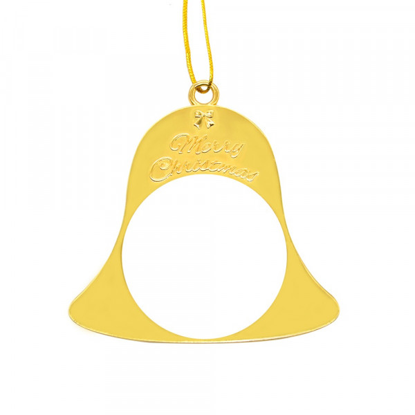 Sublimation Blank Metal Xmas Ornaments - Yellow