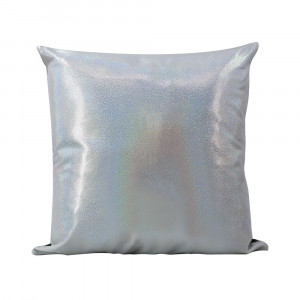 Sublimation Blank Rainbow Glitter Pillow Silver