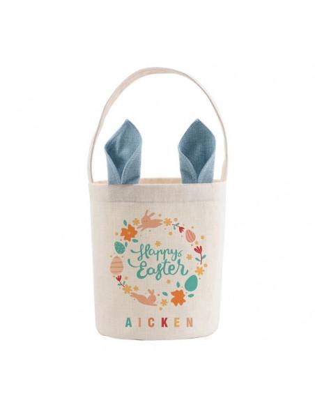 Sublimation Linen Easter Basket - Blue