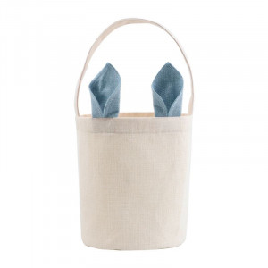 Sublimation Blank Linen Easter Basket - Blue