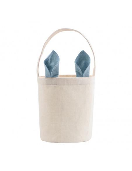 Sublimation Blank Linen Easter Basket - Blue