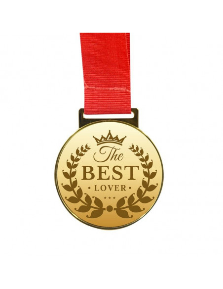 Sublimation Golden Medal with Red Cord - Gold
