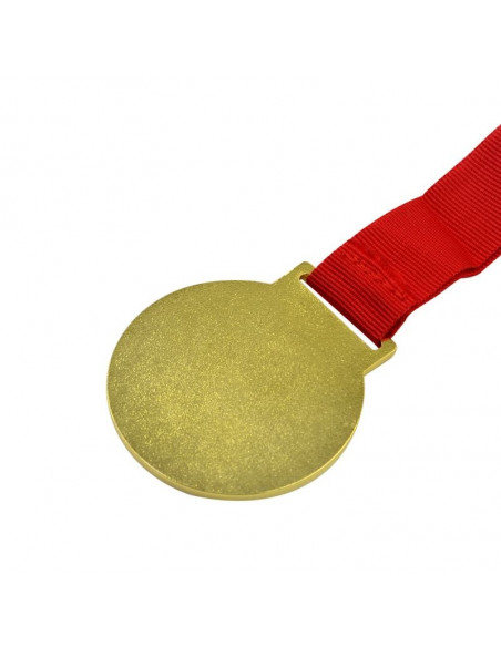 Sublimation Golden Medal with Red Cord Backside - Gold