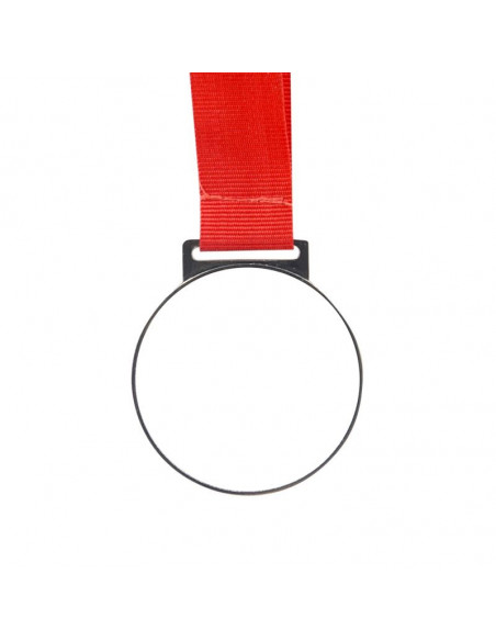 Sublimation Blank Golden Medal with Red Cord
