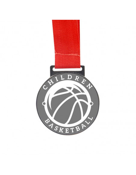 Sublimation Golden Medal with Red Cord