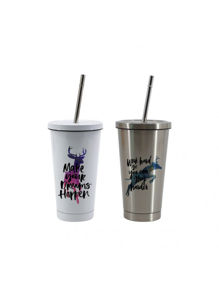 sublimation 450ml Stainless Steel Starbucks Straw Cup