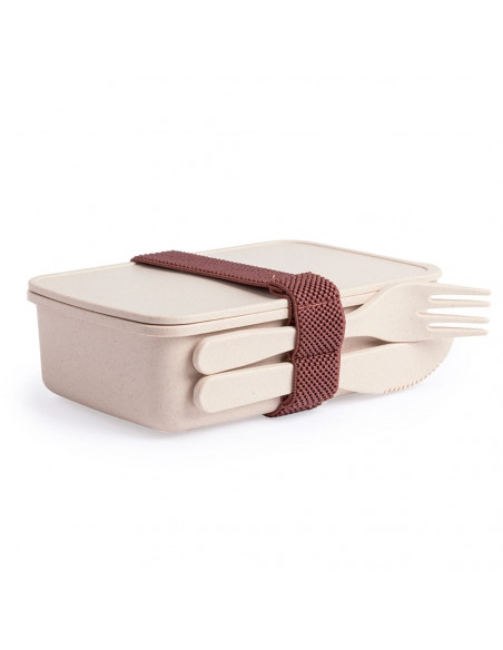Bamboo lunch box with cutlery - (Pack of 50 u.) for sublimation
