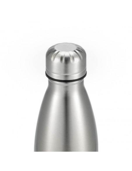 500ml Cola Shape Stainless Steel Bottle - silver