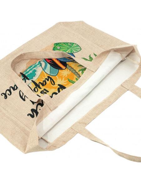 Sublimation Faux Burlap Tote Bag