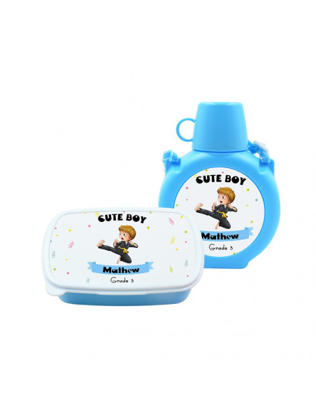Sublimation Kids Plastic Water Bottle Blue