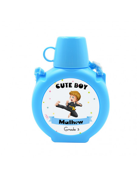 Sublimation Kids Plastic Water Bottle - Blue