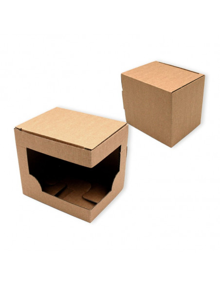 Individual mug boxes with window