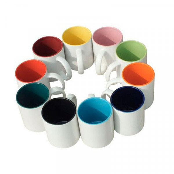 High quality (A) ceramic mug with inside colored - Pack of 864 Pieces