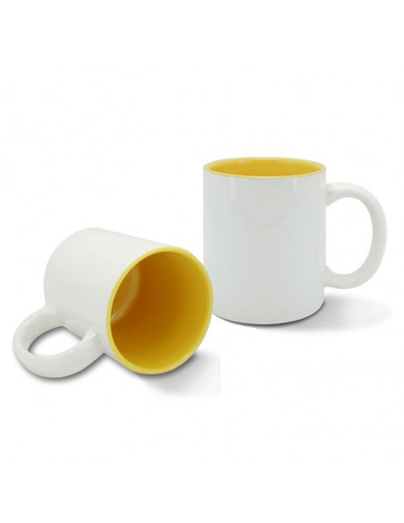High quality (A) ceramic mug with inside colored