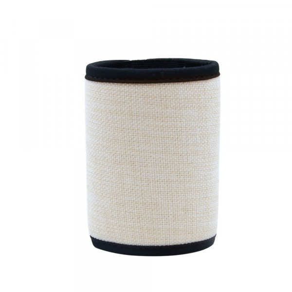 Sublimation linen Velcro Can Cooler