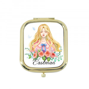 Sublimation Compact Mirror - Gold