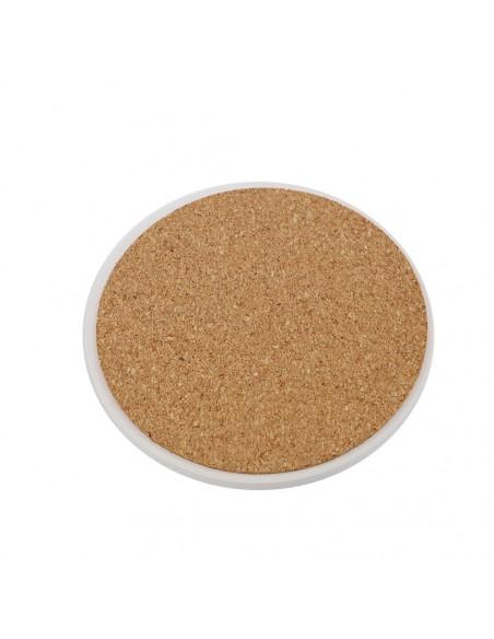 "Sublimation Sandstone Coaster with Cork Base-4.25"""