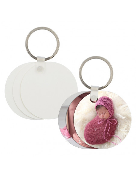 Sublimation Plastic Key Chain - Round