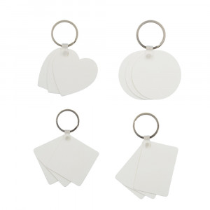 Sublimation Blank Plastic Key Chain